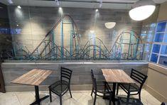 Roller coaster fans can get their caffeine fix at Coaster Coffee Co. Seaworld Orlando, Cedar Point, Sea World, Roller Coaster, Caffeine, Coffee Shop, Coasters, Fans, Canning