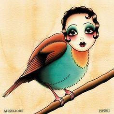 december 19, edith piaf born in 1915 (little sparrow tattoo: angelique houtkamp)