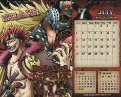 ONE PIECE Calendar~Kid & Killer - JUL