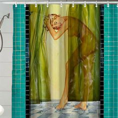 Sexy Retro Vintage Pin Up Girl Shower Curtain by ApolloCurtain, $29.99