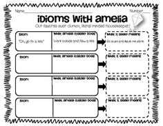 Practicing Idioms with Amelia Bedelia