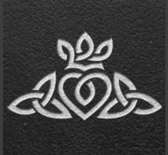 Celtic symbol of friendship and love. I want this as a ring on my wedding ring finger, with the crown towards my nail, like a Claddagh.