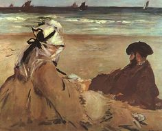 On+the+Beach,+1873+-+Edouard+Manet