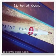 A Delightful Design: 5 ways to use a gold leaf pen