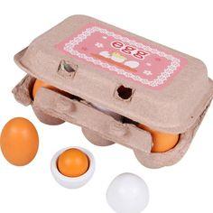 Mother Garden Kids Kitchen Wooden Lovely Eggs Toy Food Pretend Play House Kitchen Toys for Children Girl