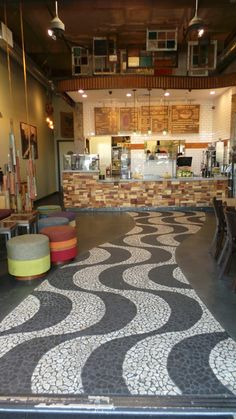 A peek into the Sambazon Cafe in Newport Beach - Crafted by local artists using reclaimed and found materials for an eco-chic Brazilian vibe