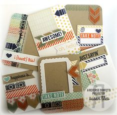 Reverse Confetti Meets Project Life by susiestampalot - Cards and Paper Crafts at Splitcoaststampers
