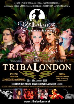 Moria Chappell performing with The Bellydance Superstars at Tribal London