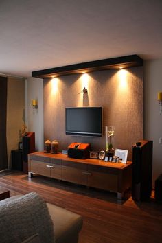Home Audio – Audio rooms Tv Showcase Design, Living Room Setup, Tv Wall Design, Audio Room, Ideal Home, Living Room Designs, Family Room, Furniture Design, Interior Design