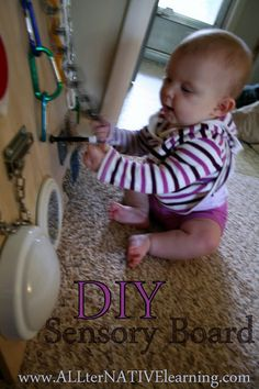 ALLterNATIVElearning: DIY Sensory Board for Babies and Toddlers (LOVE this one)