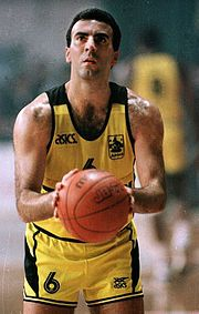 Nikos Galis - Retired Greek professional basketball player. He was named one of FIBA's 50 Greatest Players in 1991, is an inaugural member of the FIBA Hall of Fame