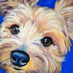 custom pet portrait paintings from photos | http://www.melissasmithart.com
