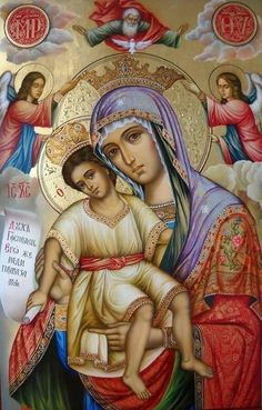 Religious Images, Religious Icons, Religious Art, Byzantine Icons, Byzantine Art, Church Icon, Queen Of Heaven, Mama Mary, Christ The King