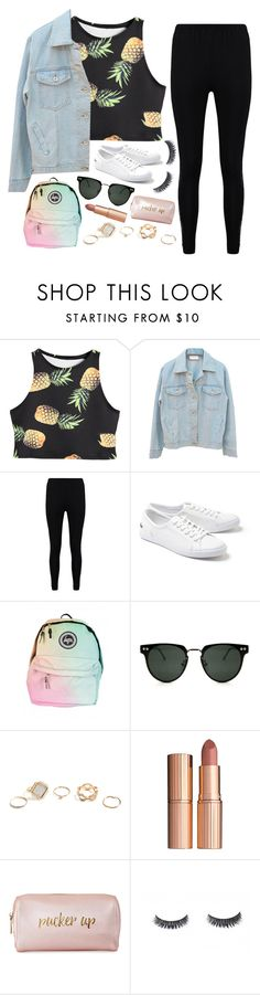 """""""Untitled #514"""" by lethargicbea ❤ liked on Polyvore featuring Boohoo, Lacoste, Spitfire, GUESS, Charlotte Tilbury and Neiman Marcus"""