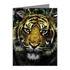 Art of Tiger Wild Animal Note Cards (Pk of 20)