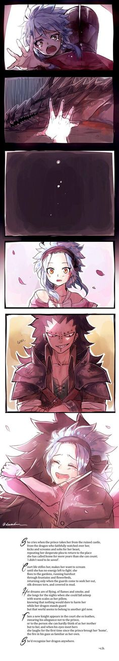 Levy and Gajeel | I know not where this came from or why....but may I just say....thank you. T^T /