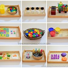 The Pinay Homeschooler: Activity Trays for 33 Month Old Toddlers Best Picture For Montessori Educati Montessori Trays, Montessori Preschool, Montessori Education, Montessori Materials, Montessori Room, Activities For 2 Year Olds, Toddler Learning Activities, Infant Activities, Preschool Activities