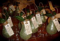 Lightbulb Pear Ornaments.