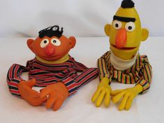 Vintage Sesame Street Pals Bert And Ernie Hand Puppets by MaryAliceFeltLikeIt on Etsy https://www.etsy.com/listing/273858932/vintage-sesame-street-pals-bert-and