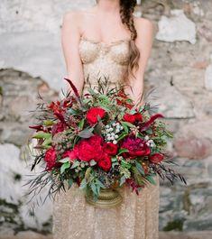 Em the Gem/Sarah Seven   gold & glitter wedding dresses   SouthBound Bride #weddingdress #sparkle