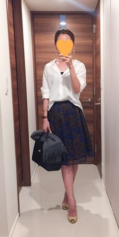 - White shirt: Uniqlo - Skirt: Ballsey - Scarf: Johnstones - Bag: CHANEL - Heels: Jimmy Choo