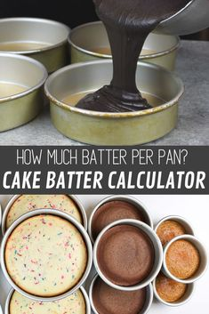 Learn exactly how much cake batter you need per pan, using my easy guide! It shares how many cups of batter you need for different sized cake layers cake decorating recipes kuchen kindergeburtstag cakes ideas Cakes To Make, How To Make Cake, Cake Sizes And Servings, Cake Servings, Cake Decorating Techniques, Cake Decorating Tutorials, Easy Cake Decorating, Mini Cakes, Cupcake Cakes
