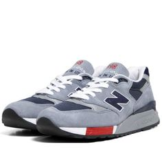 New Balance M998GNR - Made in the USA (Grey, Navy & Red)