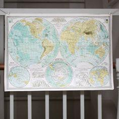Wrap - World Map Hemisphere