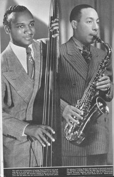 OK's finest master of the bass, along side alto sax and smooth daddy… Jazz Artists, Jazz Musicians, Music Artists, Johnny Hodges, Swing Era, Peg Trousers, Contemporary Jazz, Classic Jazz, All That Jazz