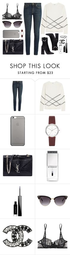 """""""Street style"""" by sxpphie ❤ liked on Polyvore featuring Yves Saint Laurent, Vince, Native Union, DKNY, Givenchy, Gucci, Chanel, La Perla and Phillip Gavriel"""