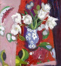 Anne Redpath, White tulips on ArtStack #anne-redpath #art