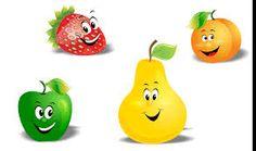Resultado de imagem para desenhos de frutas e legumes fofos
