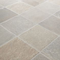 11.99 Rhino Classic Cottage Beige/Grey Stone Tile Effect Vinyl Flooring