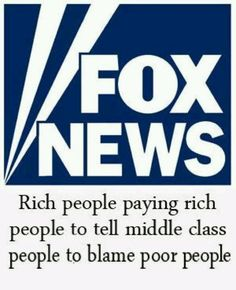 Blame the poor people. Why don't FOX viewers question anything?