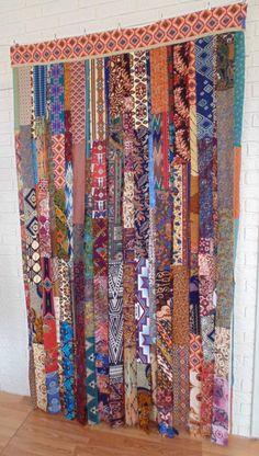 Glorious Make Rod Pocket Curtains Ideas. Enchanting Make Rod Pocket Curtains Ideas. No Sew Curtains, Rod Pocket Curtains, Window Curtains, Bohemian Curtains, Bohemian Decor, Cortinas Boho, Deco Boheme, Fabric Strips, Vintage Textiles