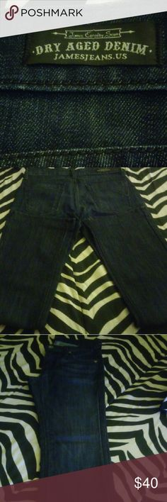 Like New James Jeans Dark Wash Size 26. Like New. Perfect condition. Only worn twice. Very nice jeans. Straight Leg with a slight Flare. James Jeans Jeans Straight Leg