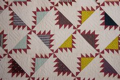 Detail - Kansas Troubles Quilt: Circa 1870; Pennsylvania