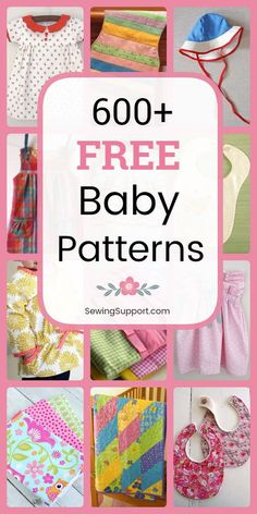 Over 600 diy projects and tutorials. Sew baby clothes bibs burp cloths quilts booties & shoes and more. Many great ideas for diy baby shower gifts. Free Baby Patterns, Sewing Patterns Free, Free Sewing, Sewing Tips, Sewing Hacks, Burp Cloth Patterns, Childrens Sewing Patterns, Sewing Ideas, Baby Sewing Projects