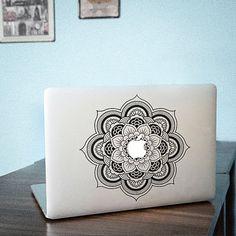Flower decal mac pro decals stickers sticker Apple Mac laptop vinyl 3M surprise gift for her him beautiful 0052 $10