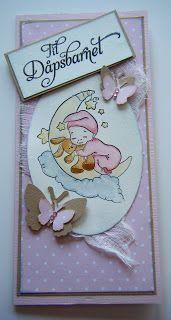 Kirstens Hobbyblogg: Bestilligskort til dåp av ei lita jente....