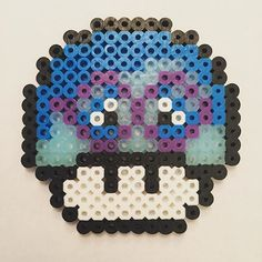 Sadness Inside Out mushroom perler beads by perlerfreakyao