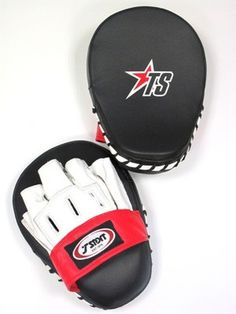 TSport Martial Arts Leather Focus Mitts - Martial Arts Equipment, Martial Arts Supplies, Boxing, Kung Fu, Karate, MMA, Kickboxing