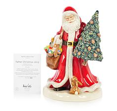 This wonderful Father Christmas porcelain figurine from Royal Doulton is destined to become part of your holiday traditions for years to com...