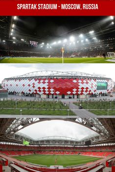 Spartak Stadium - Moscow, Russia. Capacidad 46 990. World Cup Russia 2018, Sports Complex, World Cup Final, Soccer World, Football Stadiums, Moscow Russia, Barbara Palvin, Fifa World Cup, Architecture