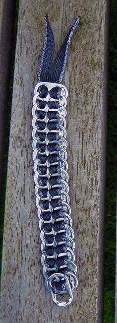 Flat pop tab bracelet with grey & silver por JadestormCreations, €6.00