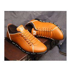 Sapatenis Social Masculino em Couro Amarelo Calçados Elegante Sapato Casual - Calitta
