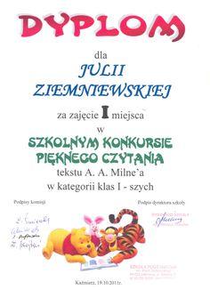 Dyplom z mini konkursw kwadrans z bibliotek dyplomy dyploms pikne czytanie ccuart Images