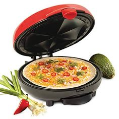 Nostalgia Electric Quesadilla Maker with Extra Stuffing Latch, Red Mushroom Quesadilla Recipe, Quesadilla Recipes, Best Omelette, Spinach Tortilla, Specialty Appliances, Small Appliances, Spinach Stuffed Mushrooms, Taco Tuesday, Charcoal Grill