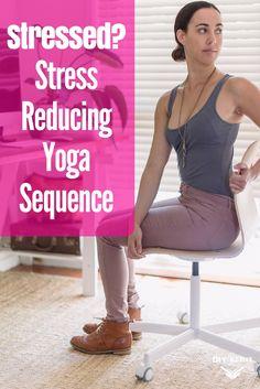 Stressed? Reduce Stress with This Yoga Sequence via @DIYActiveHQ #yoga #athomeyoga #health