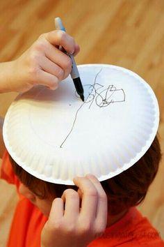 Tegn en snemand ovenpå dit hoved
